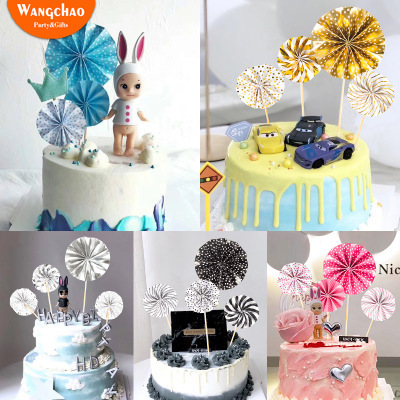 5pcs Sun Cloud 1 Cake Topper 1st Birthday Party Home Party Baking Decoration
