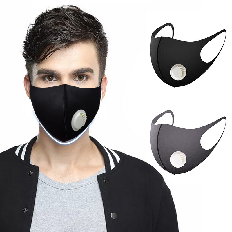 Thicken Respiratory Dust Mouth Mask Anti-fog Haze Dust Pm2.5 Pollen 3D Cropped Breathable Valve Mask Anti-Virus