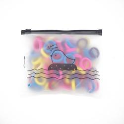 Bolsos de alta elasticidad de Color pequeño de sarga de pelo para niños 8 rayas Negro-100 raíces