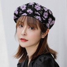 2020 Fashion Flower Beret  Hat For Women Painter Cap Female Bonnet
