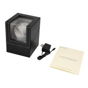 Agitador de Motor EU/US/UK/AU, soporte de bobinadora de relojes, exhibidor automático, caja de bobinado de relojes mecánicos, caja de relojes automática para joyería