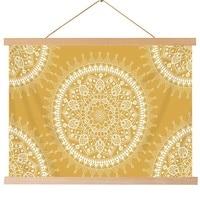 Böhmischen Wandteppich  Mandala Hippie Beliebte Wandbehang Tapisserie Warme Goldene Orange Strand Decke|Dekorative Wandteppiche|Heim und Garten -