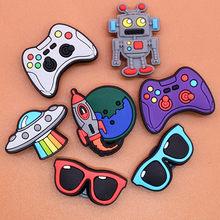 Shoe-Charms Gift Croc Jibz Kids Cartoon Cute Kawaii DIY 1pcs PVC for Favor X-Mas U58