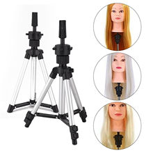 2 Size Training Wig Stand Mannequin Head Tripod Stand support perruque trepied Hairstyles Hairdressing Clamp Holder for Practice