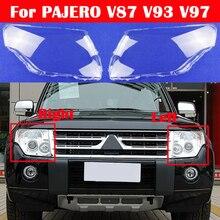 Car Lens Glass Light Lamp Headlamp Shell 2007-2018 Transparent Lampshade Headlight Cover For Mitsubishi PAJERO V87 V93 V97