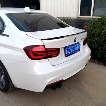 Use For BMW 3 Series F30 2011--2019 Year P Style Spoiler Sport ABS Plastic Carbon Fiber Look Rear Wing Body Kit Accessories image