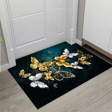 Borboleta impresso capacho salas de estar tapete antiderrapante absorvente chuveiro banho tapete chão quarto cozinha corredor tapetes da porta