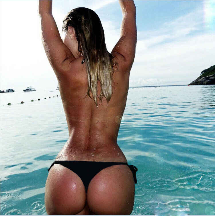 Wanita Kolam Panty Brasil Nakal Bikini Sisi Bawah Dasi Thong Baju Baju Renang Perban Dasi Sisi Beachwear Celana