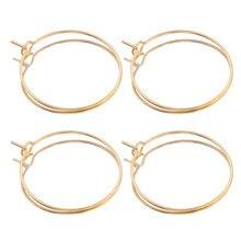 20 sztuk/partia złota ze stali nierdzewnej duże koło drutu obręcze pętli kolczyki wysokiej jakości dla DIY dynda kolczyk tworzenia biżuterii dostaw