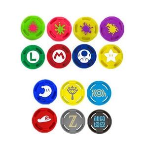 Image 5 - Silicone Thumb Stick Grip Caps Analog Joystick Cover Case For Zelda Mario Nintend Switch NS JoyCon Controllers Joy Con Joypad