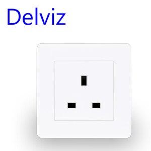 Delviz UK standard 13A wall socket panel, Type 86 square hole, Square pin socket, British switch socket, AC 110V~250V, Household