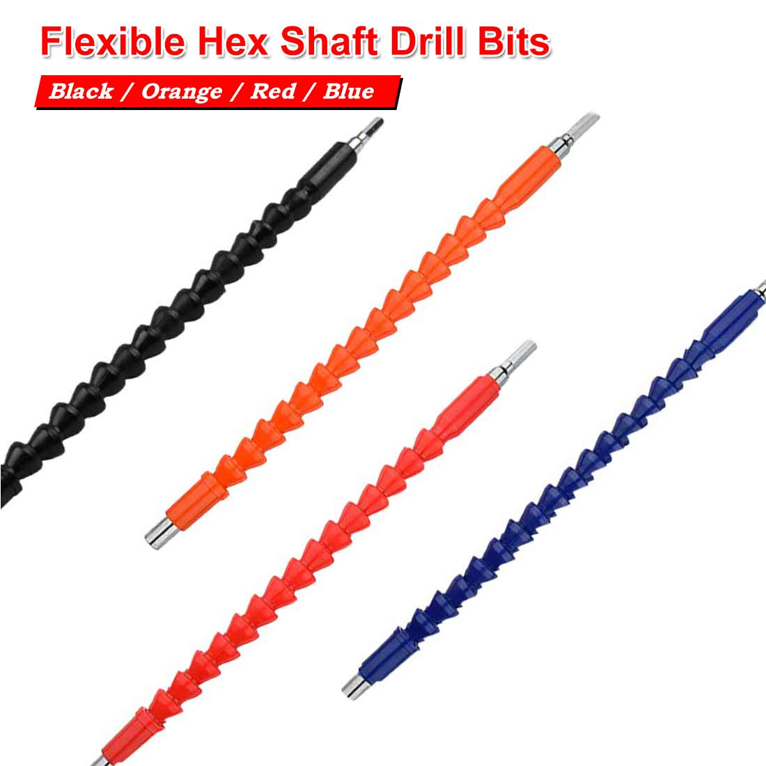 1//4 Flexible Extension Screwdriver Drill Bit Shaft Holder Connecting Link for Electronic Drill Screwdriver