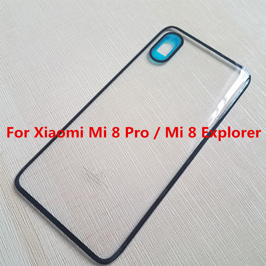 For Xiaomi Mi 8 Pro / Mi 8 Explorer Back Door Glass Back Cover Replacement Parts for Xiaomi Mi8 Pro Battery Housing