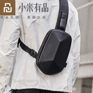 Image 1 - Youpin TAJEZZO polyèdre sac à dos en simili cuir polyuréthane mode sac à bandoulière étanche loisirs sport poitrine Pack sacs pour hommes voyage Camping