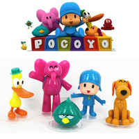 Figuras de acción de Pocoyó, lote de 5 animales de peluche en PVC de ELLY PATO, Loula, Sleepy Bird, regalos para niños