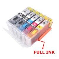 Recarga pgi 580 581 xxl cartucho de tinta recarregável chip permanente tinta completa para canon pixma ts705 ts6150 ts6250 tr7550 tr8550 ts9550