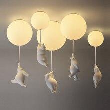 Современные Мультяшные медвежонки потолочные светильники воздушный