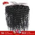 Ali queen волосы глубокая волна бразильские девственные человеческие волосы Кружева Фронтальная XP/10A натуральный цвет 10 до 20 13x4