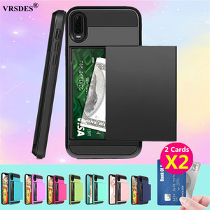 For Huawei P30 P20 Pro Lite P Smart 2019 Case Slide Credit Card Slot Wallet Phone Case For Huawei P30 Pro Lite P Smart 2019 P20(China)