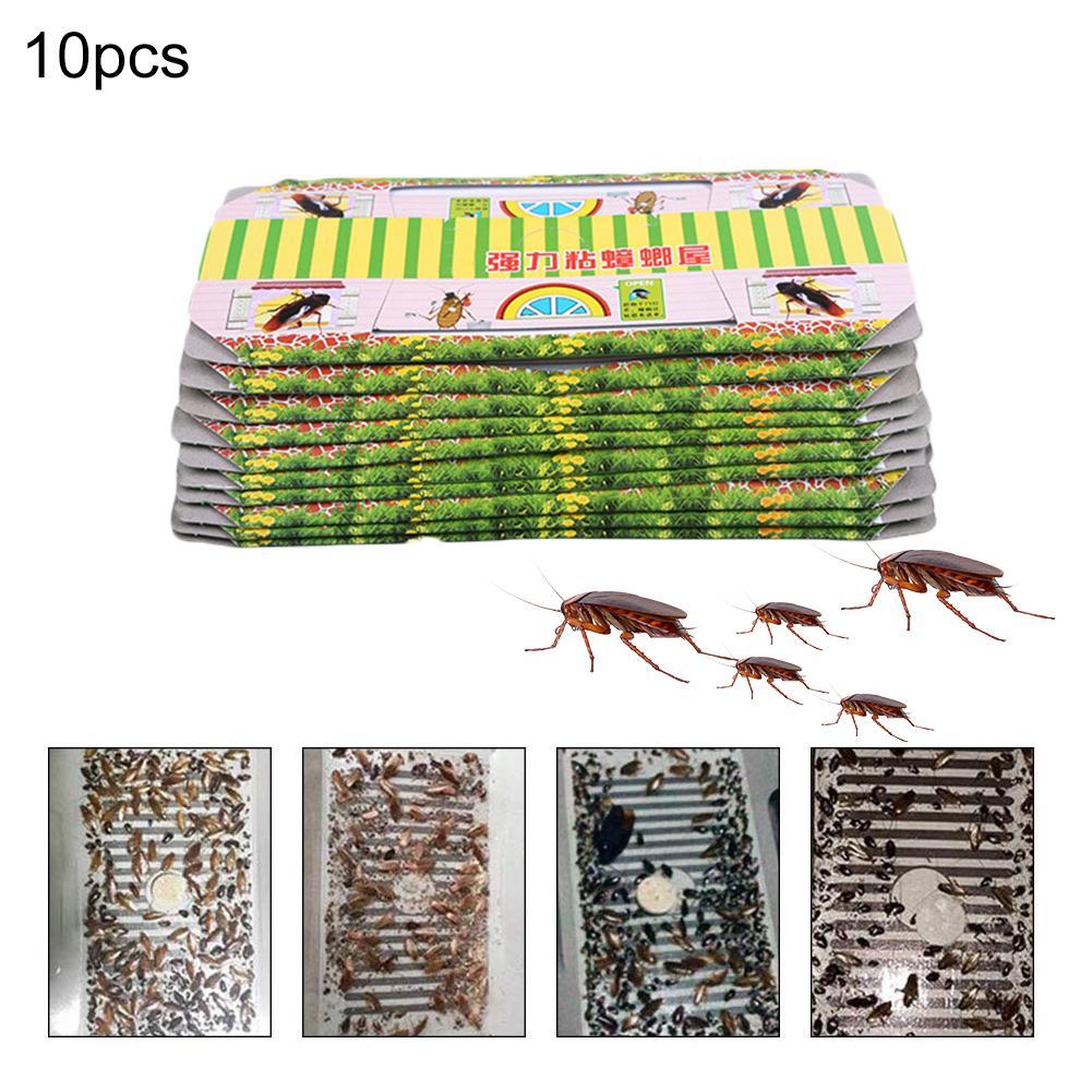 10 Pcs Cockroach House Cockroach Trap Repellent Killing Bait Strong Sticky Catcher Traps Insect Pest Repeller Eco friendly Size|Traps| |  - title=