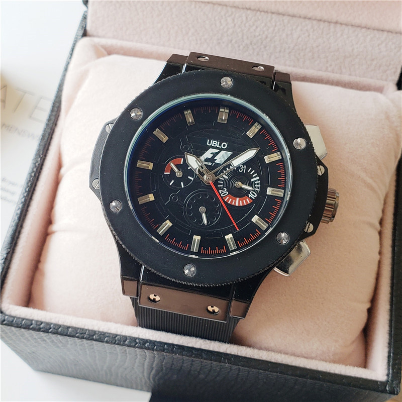Luxury Brand F1 Racing Car Big Dial Bang Designer AAA Mechanical Automatic Movement Men Watches Sport Waterproof Wrist Watch