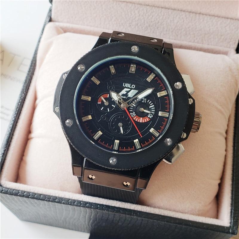 Luxury Brand F1 Racing Car Big Dial Bang Designer AAA Mechanical Automatic Movement Men Watches Sport Waterproof Wrist Watch