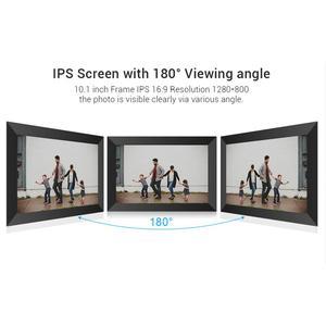 Image 4 - A10 WiFi 10.1 بوصة إطار الصورة الرقمية 1280x800 IPS شاشة تعمل باللمس 16 جيجابايت الذكية إطار صور APP التحكم مع حامل للانفصال