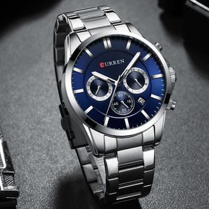 Image 3 - New Watches Men Top Brand CURREN  Luxury Quartz Watch Mens Casual Military Wristwatch Stainless Steel Clock with Chronograph