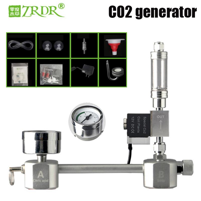 ZRDR Aquarium DIY CO2 generator system kit CO2 generator, bubble counter diffuser with solenoid valve,For / Aquatic plant growth(China)