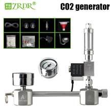 Zrdr aquário diy gerador de co2 kit sistema gerador co2, bolha contador difusor com válvula solenóide, para/plantas aquáticas crescimento