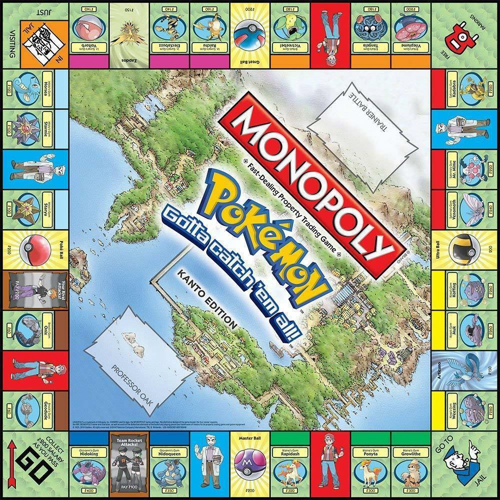 Tomy Pokemon Monopoly Pokemon All English Board Game Board card Game Family gathering christmas present 2