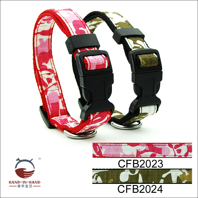 Hand-in-hand Pet Supplies Pet Collar Large Dog Collar Collar Collar Dog Supplies Webbing Camouflage Neck Band