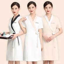 Cosmetologist uniform summer short sleeve suit temperament skin management division professional clothing