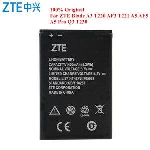 Image 1 - Batería Original Li3714T42P3h765039 para ZTE Blade A3 T220 AF3 T221 A5 AF5 A5 Pro Q3 T230 1400mAh capacidad Real akku