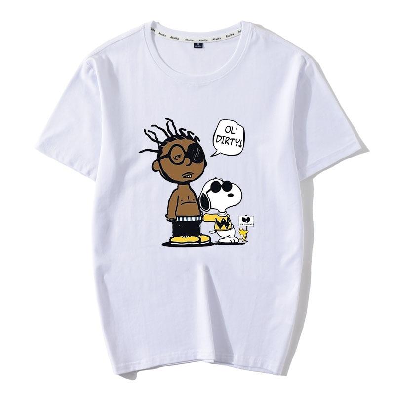 New 100%Cotton Ol Dirty Bastard Men T Shirt Inspiration Summer Wu Tang clan ODB shirt wu wear Aesthetic Streetwear Tops
