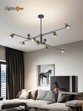 Nordic simple living room lamp light luxury creative bedroom dining room lamp chandelier