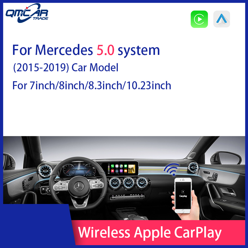 QMCAR Wireless Apple Carplay Android Auto Mirror A B C E G GL ML Class For Mercedes NTG 5.0 Car Play Airplay Multimedia player image