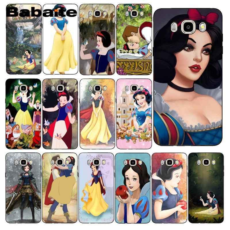 Babaite Kartun Snow White Case Telepon untuk Samsung Galaxy J7 J6 J8 J4 J4Plus J7 Duo J7NEO J2 J7 Perdana