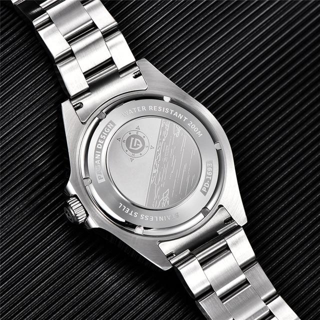 2021 New PAGANI DESIGN Men Automatic Mechanical Watch Classic Retro GMT Watch Stainless Steel 200m Waterproof Clock Reloj Hombre 6