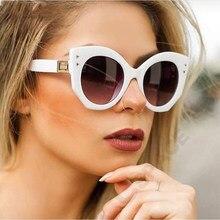 Occhiali da sole bianchi unici Unisex 2020 Trend irregular Square occhiali da sole donna acetato occhiali da vista con montatura grande occhiali UV400