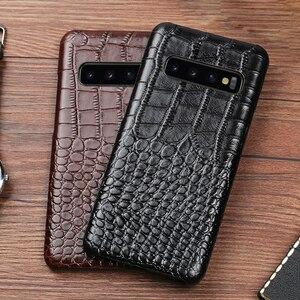 Image 3 - Caixa Do Telefone de couro Para Samsung S20 Ultra S10 S10e S9 S8 S7 Nota 8 9 10 Lite 20 A20 A30 a50 A51 A70 A71 A8 Plus Capa Crocodilo