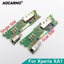 עבור SONY Xperia XA1 G3121 G3125 G3112 G3116 5 מיקרופון מיקרופון USB טעינת נמל מטען Dock Connector להגמיש כבלים המעגלים