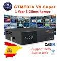 GTmedia V9 Super Digitale TV Satellietontvanger DVB-S2 H.265 DRE & Biss key 1 Jaar Spanje CCAM PK Freesat V7S HD V8 NOVA X96 Mini