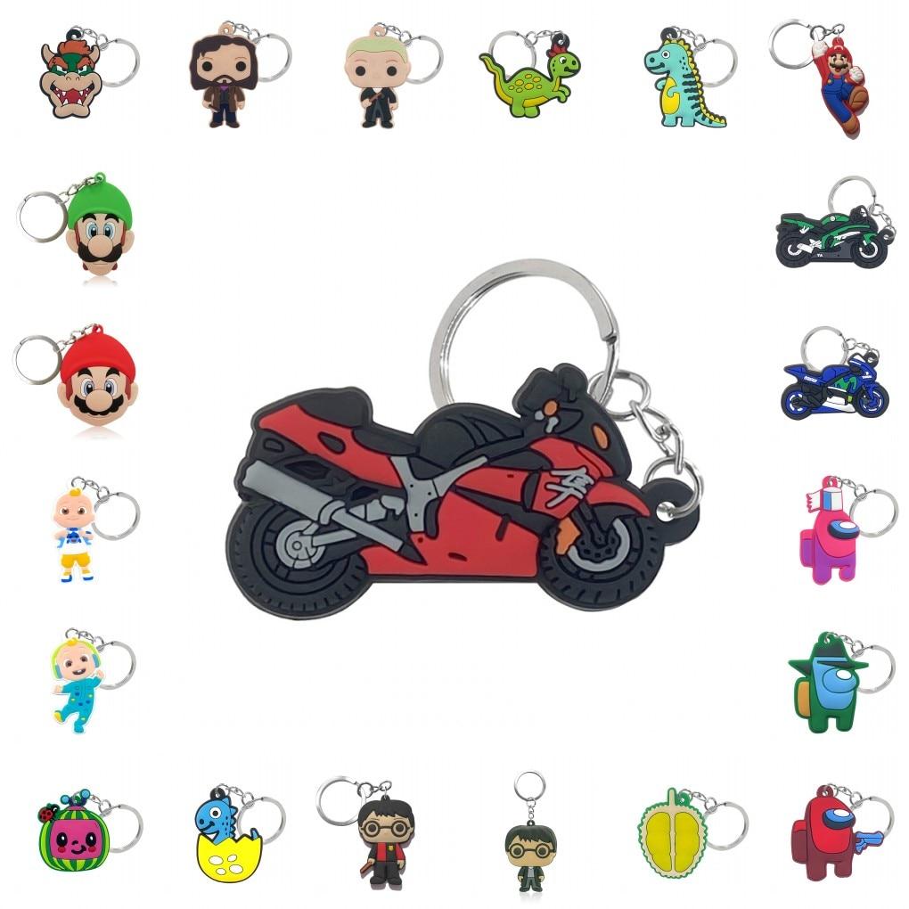 1PCS PVC Keychain Cartoon Figure Key Ring Keychain Key Holder Fashion Trinkets Accessory Jewelry Key Chain Keys Decoration