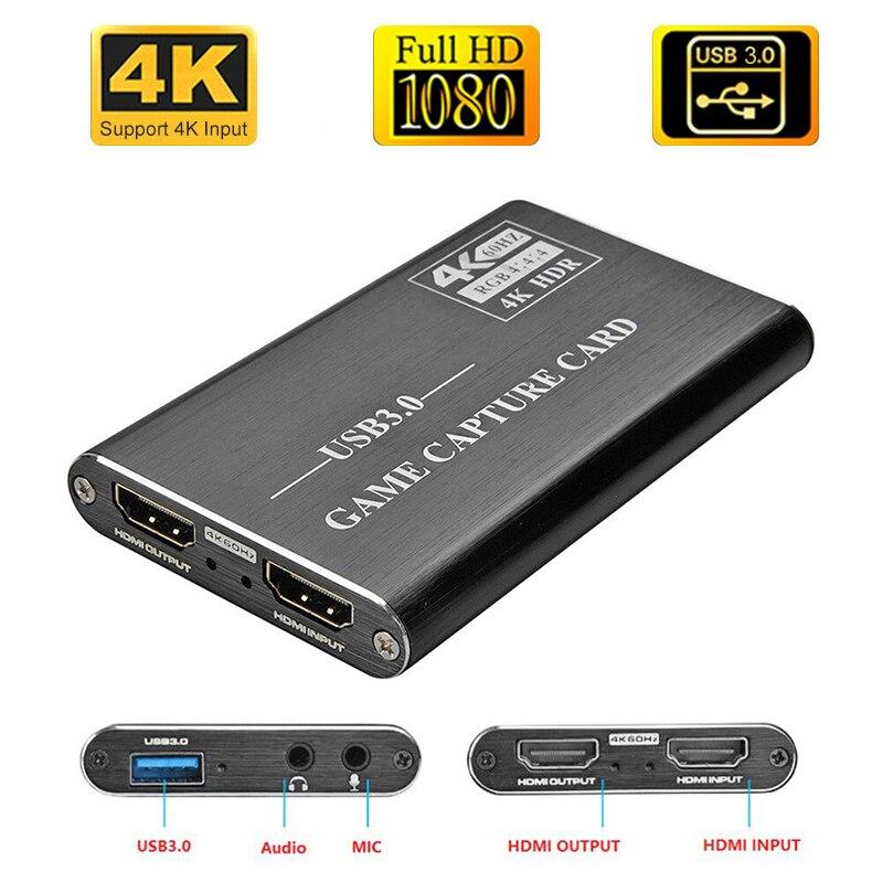4K HDMI игровая Карта видеозахвата USB3.0 1080P захватывающий ключ hdmi карта захвата для OBS захватывающая игра карта захвата в реальном времени