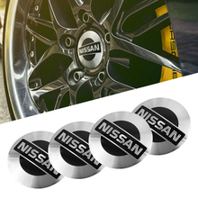 1Set Car Wheel Stickers 56mm Auto Center Hub Cap Decal For Nissan Qashqai Juke X-trail