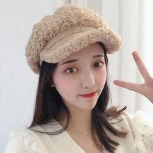 Winter Cap Hat Women Girl Cotton YOYOCORN Visor Baseball-Cap Faux-Fur Hip-Hop Warm Adjustable-Pattern
