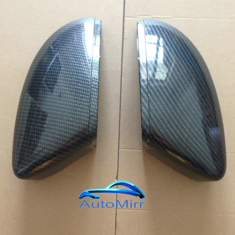 New Black L /& R Wing Mirror Cover Casing For VW CC Passat B7 Beetle EOS Scirocco