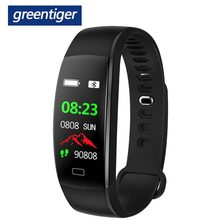 Greentiger F64HR Smart Bracelet Men Fitness Tracker Color Screen IP68 Waterproof Heart Rate Monitor Smart Wristband Android IOS(China)