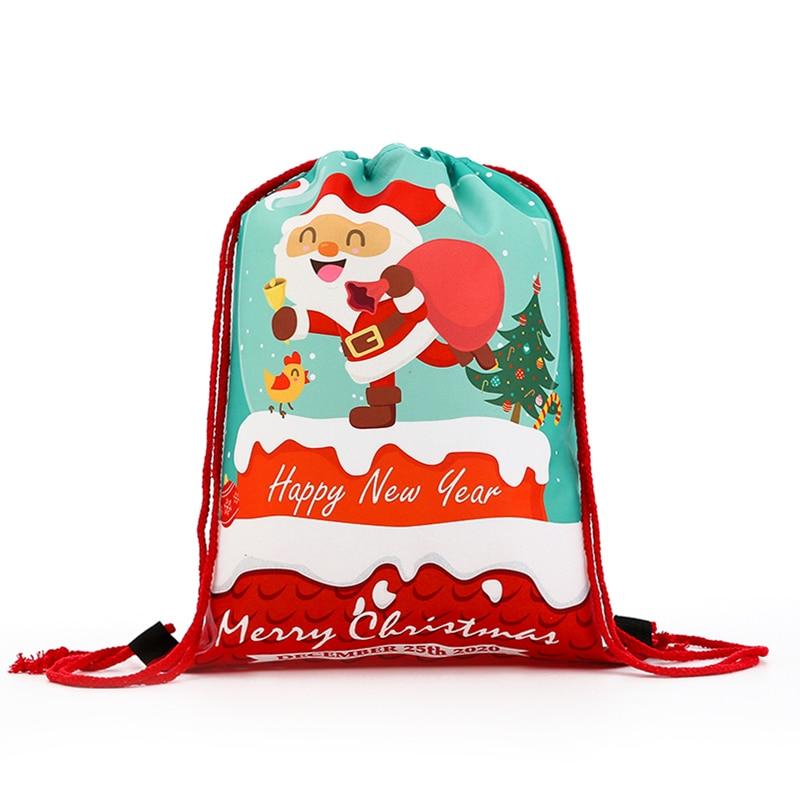 New Fashion Backpack Women Mini Drawstring Backpack 3D Printing Travel Softback Bags Men Mochila Bag Christmas Girs Letter Bag